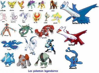 Image des pokemon legendaires pokemon ultime - Photo de pokemon rare ...