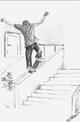 Petit dessin de skate skater 54360 - Dessin skateboard ...